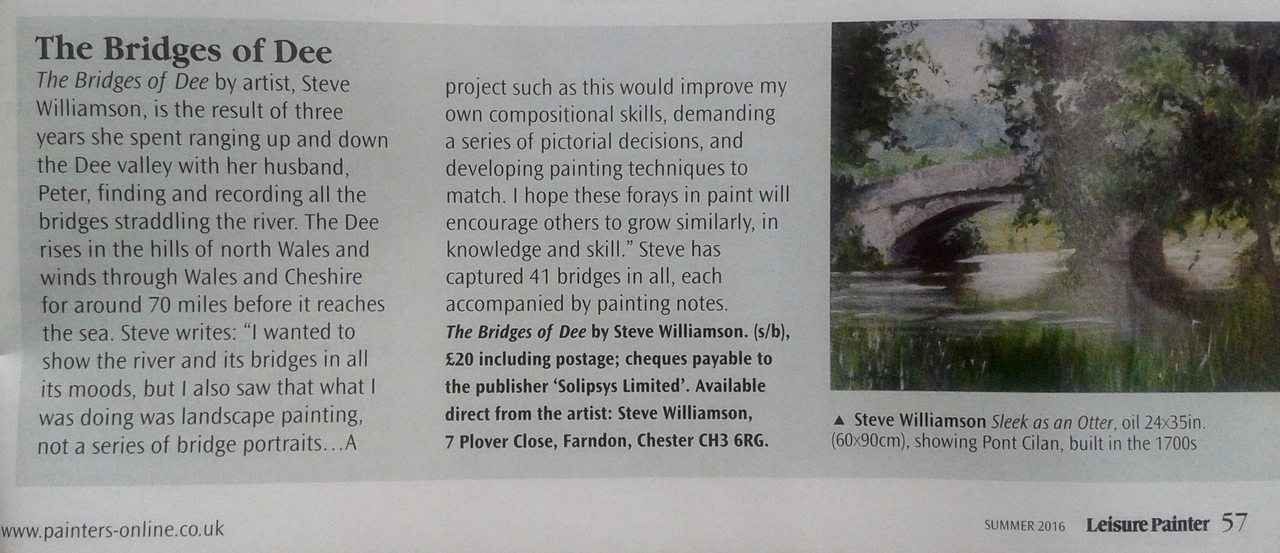 Article in Leisure Painter Magazine
